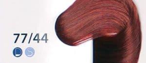 Крем краска ESTEL DE LUXE 77/44 Русый-медный интенсивный, 60мл