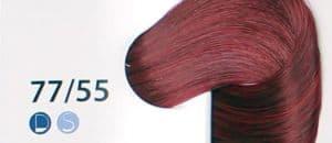 Крем краска ESTEL DE LUXE 77/55 Русый-красный интенсивный, 60 мл