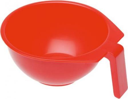 Чаша для краски DEWAL, красная, с ручкой 400 мл