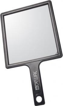 Зеркало заднего вида DEWAL пластик черное с ручкой, 21,5х23,5см