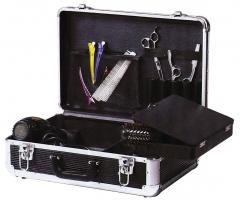 Чемодан для парикмахерских инструментов DEWAL, пластик,черный 45х30,5х16 см