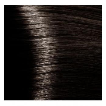 Крем краска Kapous Hyaluronic 4/07 Насыщенно-холодный коричневый, 100 мл