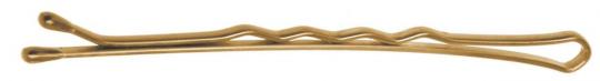 SLN60V-5/60. Невидимки Dewal 60 мм волна, золотистые (60 шт.)