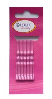 Невидимки розовые 50 мм (12 шт) волна DEWAL BEAUTY N-12PINK