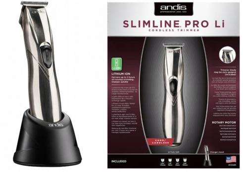 Триммер ANDIS D-8 SLIMLINE PRO LI хром/черный