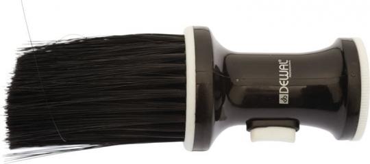 Кисть-сметка настольная с ёмкостью для талька (искусственная щетина) DEWAL NB002Black