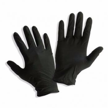 Перчатки виниловые, цвет черный