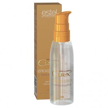 Флюид-блеск c термозащитой для всех типов волос ESTEL CUREX BRILLIANCE , 100 мл