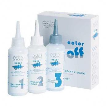 ESTEL COLOR OFF Эмульсия смывка для удаления краски с волос, 3*120 мл