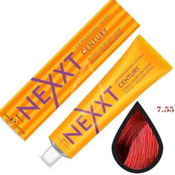 NEXXT Крем-краска 7-55 Средне-русый красный насыщенный 100мл.