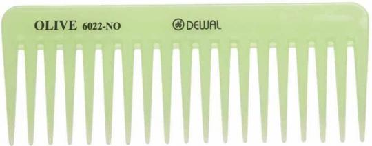 Гребень DEWAL OLIVE моделирующий, редкозубый,зеленый 15,5 см