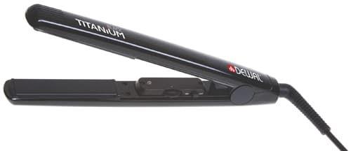 Щипцы-выпрямители DEWAL Black Titanium, 25х90 мм, с терморег, титаново-турмалиновое покрытие, 105 Вт