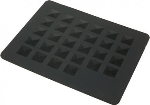 Подкладка под горячие инструменты DEWAL, силикон,черная 20x25см
